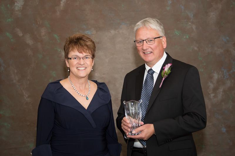 President Faith Hensrud and Bruce Sutor