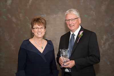 President Faith Hensrud and Bruce Sutor