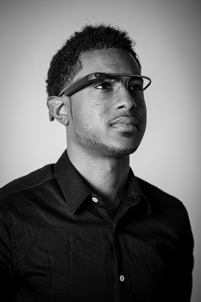 Portrait of a Google Glass engineer