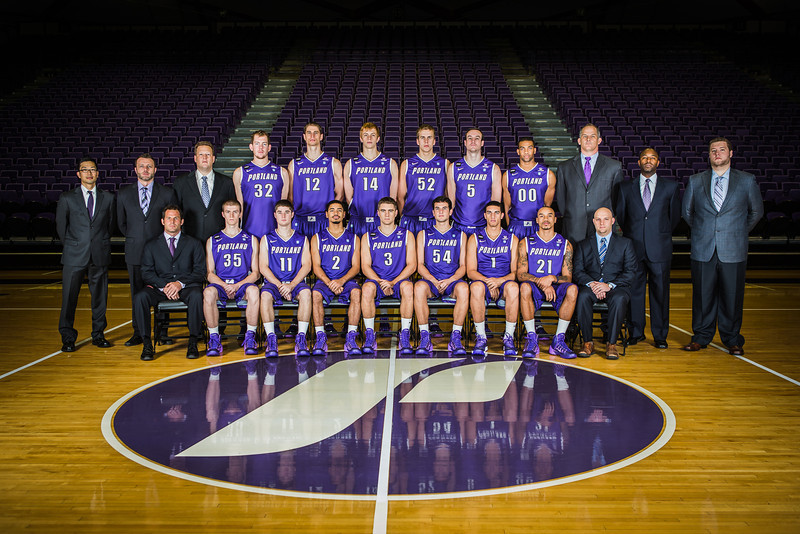 Univ. of Portland Basketball Team Portrait