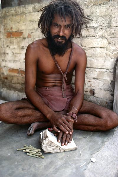 India, Rajastan, Jaipur, A young man comfortably dressed