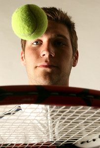 Top Cat tennis player, Thomas, poses for a portrait on April 18, 2007. (Jay Grabiec)