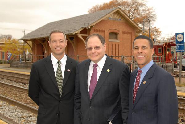 Gov Martin O'Malley, Mayor Sidney Katz and Lt Gov Anthony Brown