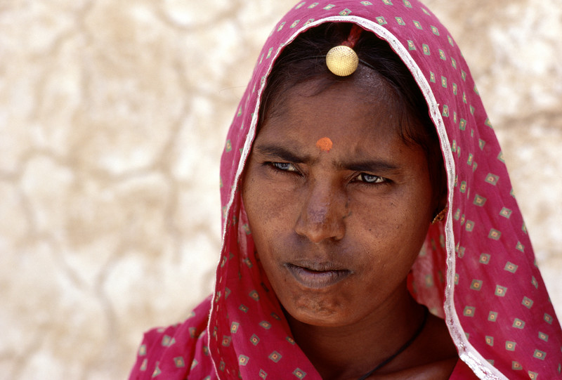 India, Rajastan, Jaipur, A Hindu Woman