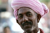 india, Rajastan, Jaipur, Man in Pink Turban
