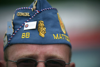 Tim Ritter of the Mattoon VFW before the Mattoon parade on Friday, July 4, 2008. (Jay Grabiec/Staff Photographer)