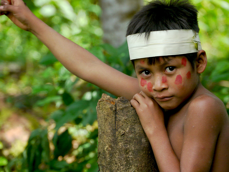 Huaorani Boy, Ecuador