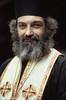 England, Somerset, Glastonbury, An English Orthodox Priest at Glastonbury Abbey