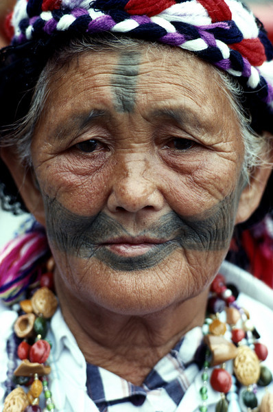 Taiwan, Taroko Gorge, an Ami woman (original inhabitants of the island)