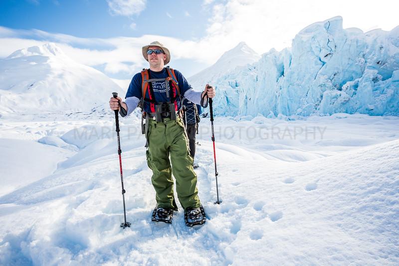 Snowshoeing at Portage Glacier<br /> <br /> Canon 5D MK III<br /> Canon EF 15mm f/2.8 Fisheye<br /> Portage Glacier, Alaska
