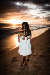 A beautirul sunset on Maui