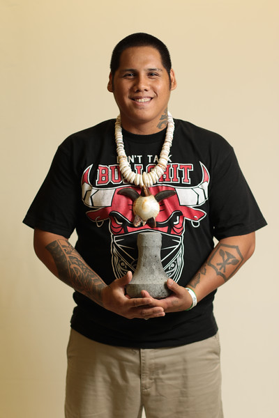 Pōhaku Kuʻi ʻAi - Poi Pounder ( Basalt Stone) Keo A. Young