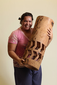 Pahu ( Drum ) - Coconut Log , ʻUlana Kalāhiki-Anthony