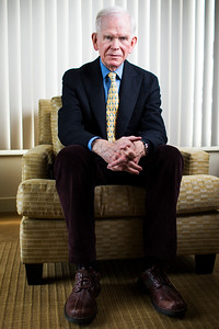 BOSTON, MA - MAY 16:   Jeremy Grantham of GMO poses for a portrait on May 16, 2019 in Boston, Massachusetts.  (Photo by Adam Glanzman for Les Echos)