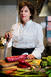 Chef Barbara Lynch poses for a portrait in the kitchen of Menton restaurant in Boston, Massachusetts on April 11, 2017. Photo by Adam Glanzman for TIME