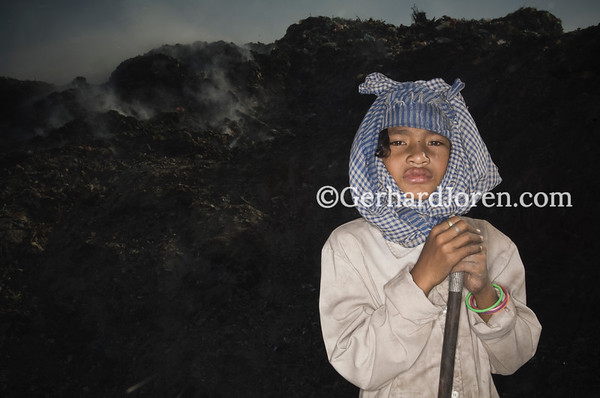 Pha Lomoung, 12 years old. Stung Meanchey Municipal Waste Dump in Phnom Penh