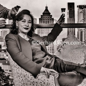 Feng Hsu, actress, producer, at her home in HK