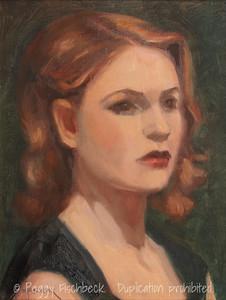 Nina, 11x14, oil panel