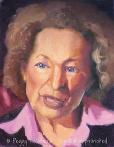 Portrait (Margaret Atwood) 11x14  oil on canvas panel
