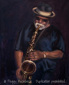 Cool Jazz, 20x16, oil on canvas  SOLD H0674