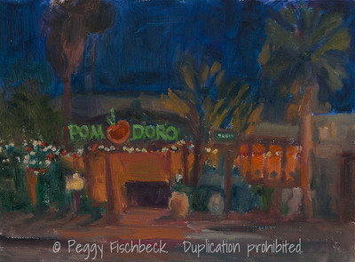 Pomodoro Nocturne, 9x12, oil panel  SOLD