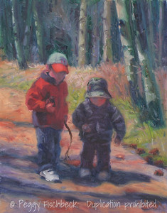 Graham and Andrew, Twin Lakes 11x14 oil on panel  SOLD