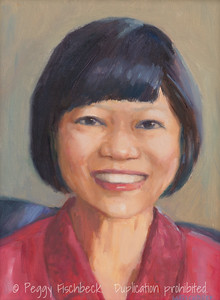 Annette, 9x12, oil panel  G0662 SOLD