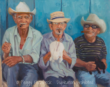 Cuban Cigars, 16x20, oil on canvas  SOLD G0619