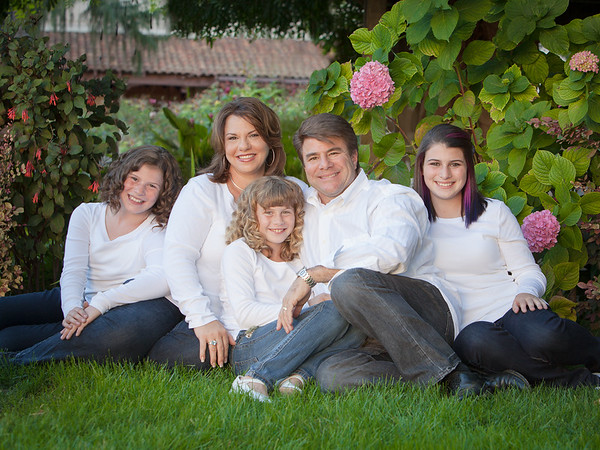 Family portrait at Santa Clara University