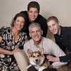 Family Portrait With Corgi at Home