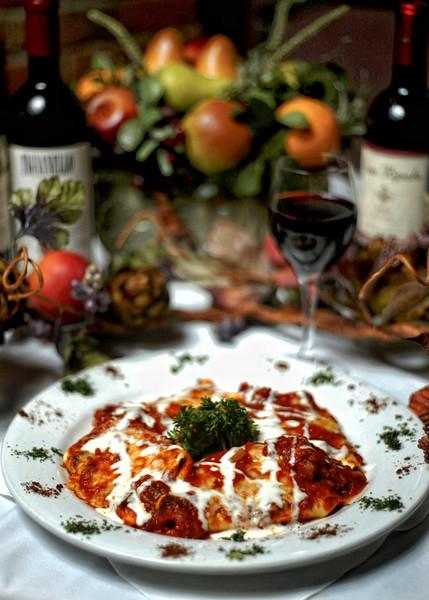 Food at Preston St. restaurants. La Vecchia Trattoria. Fazzoletti Alla Toscanese.