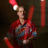 Fred Anderson, a juggler who is performing at the Fringe Festival.  Photo by Patrick Doyle.