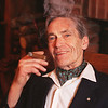 Bob Phillips smoking a cigar. He is writing about how Adrianne Clarkson has ended a tradition of smoking cigars at Rideau Hall. Photo by PATRICK DOYLE, THE OTTAWA CITIZEN (For NATN story by Bob Phillips)