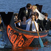 Duncan Bailey and Alison McDermott were married at Major's Hill park. After the ceremony the wedding party paddled over to the museum of civilization in a Haida canoe. Photo by PATRICK DOYLE, THE OTTAWA CITIZEN
