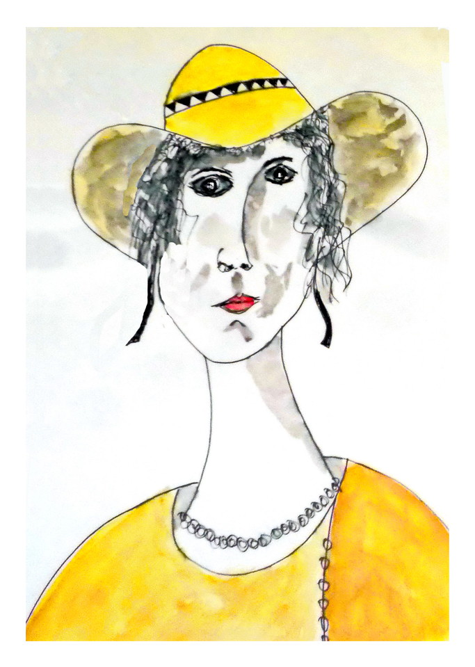 English Woman in a Yellow Hat