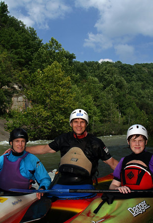 "Paddling Family. Wikipedia says: ""an environmental portrait is a portrait executed in the subject's usual environment, such as in their home or workplace, and typically illuminates the subject's life and surroundings."" This family is certainly at home in the whitewater paddling environment, having paddled all over the world, winning national championships, representnig USA in several olympics, and giving back so much to the sport through volunteering their time and energy. September 2011.<br /> <br /> © Martin Radigan. All images copyright protected."
