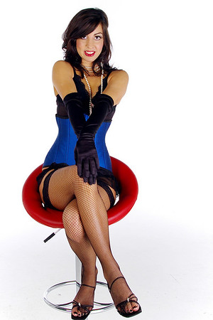 """The stunning Amy in a hand made corset from  <a href=""""http://www.volancia.com"""">http://www.volancia.com</a>"""