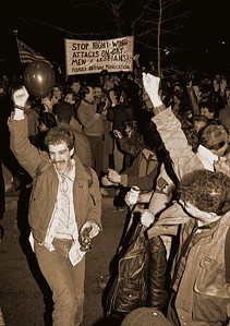 Celebration Gay Rights Bill NYC, 1986