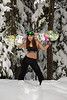 Image of female snowboarder