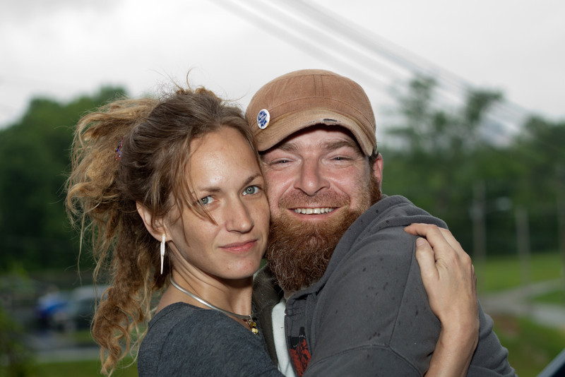 Hipster couple portrait