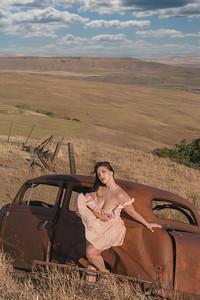 Photos of Tori Brown taken at the Columbia Hills State Park in Washington