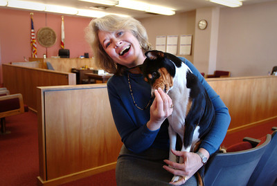 Judge Patricia Scanlon and her favorite court visitor.