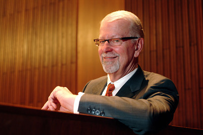 Northern California Federal District Court judge Vaughn R. Walker in his courtroom. Walker has ruled in a variety of big cases including Prop 8, the gay marriage issue.