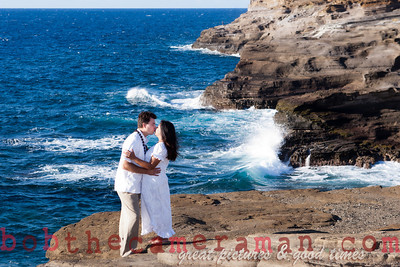 0M2Q6442-Sharon and Nathaniel Stillman engagement portrait-Blowhole-Sandy Beach-Oahu-Hawaii-September 2011-Edit