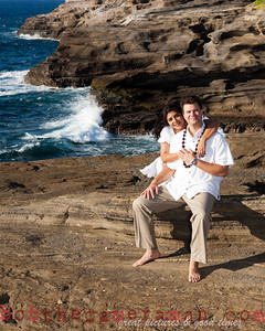 0M2Q6475-Sharon and Nathaniel Stillman engagement portrait-Blowhole-Sandy Beach-Oahu-Hawaii-September 2011