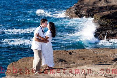 0M2Q6442-Sharon and Nathaniel Stillman engagement portrait-Blowhole-Sandy Beach-Oahu-Hawaii-September 2011-Edit-2