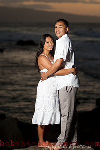 0M2Q9820-Jeffrey and Xania Engagement Portrait Session-North Shore-Rockpile-Oahu-Hawaii-March 2011