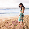 3-Karla-17 weeks-maternity portrait on the beach-Rockpiles-Oahu-Hawaii-March 2014