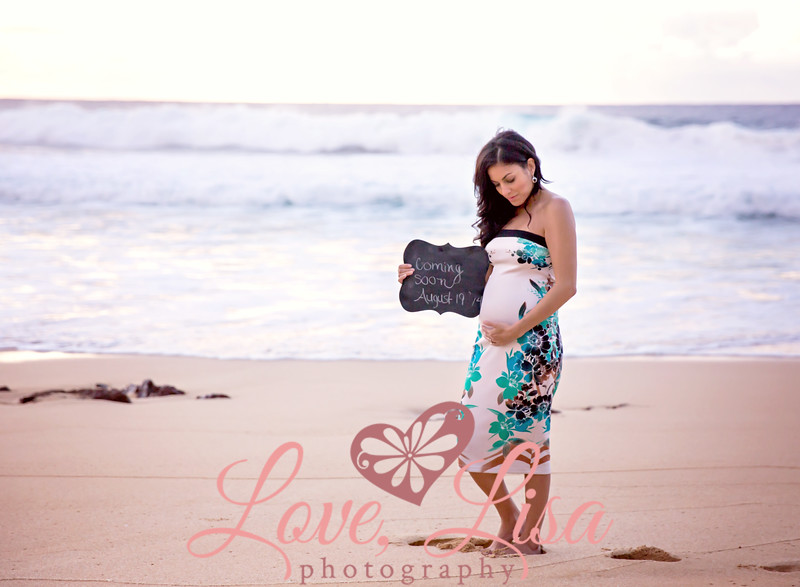 57-Karla-17 weeks-maternity portrait on the beach-Rockpiles-Oahu-Hawaii-March 2014