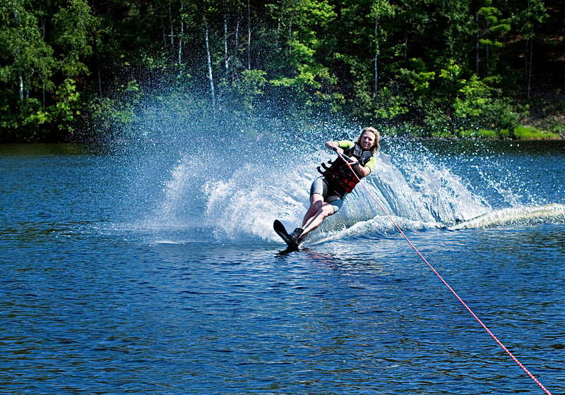 Kathryn Waterskiing<br /> Nordheim<br /> August, 2008